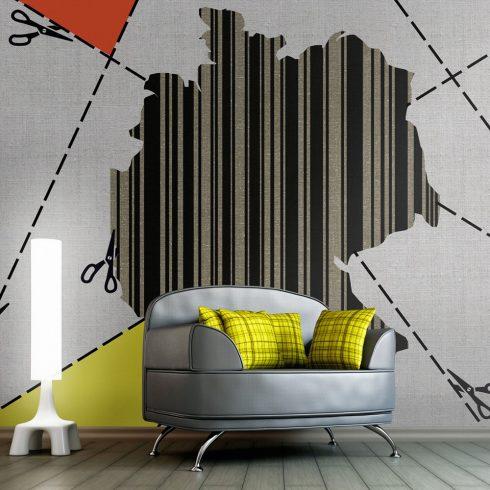 Fotótapéta - map - Germany (barcode)  -  ajandekpont.hu