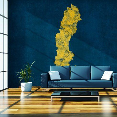 Fotótapéta - map: Sweden  -  ajandekpont.hu