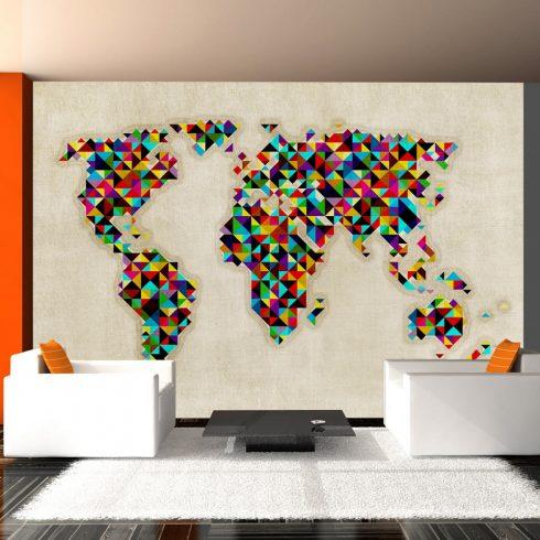 Fotótapéta - World Map - a kaleidoscope of colors  -  ajandekpont.hu