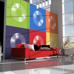 Fotótapéta - Vinyl record and colors