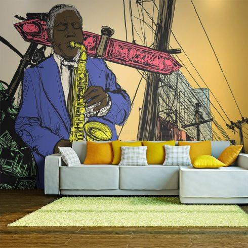 Fotótapéta - Saxophonist in New York  -  ajandekpont.hu