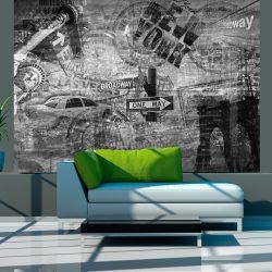 Fotótapéta - New York, black and white, collage  -  ajandekpont.hu