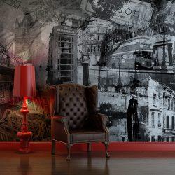 Fotótapéta - London, London... (black and white)