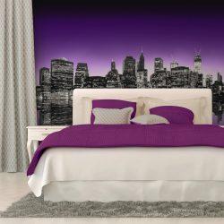Fotótapéta - The Big Apple in purple color  -  ajandekpont.hu
