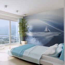 Fotótapéta - Lonely sail drifting