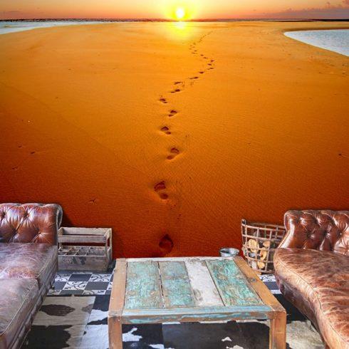 Fotótapéta - Lábnyomok a homokban  -  ajandekpont.hu
