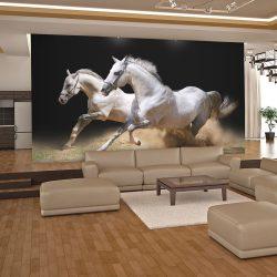 Fotótapéta - Vágtató lovak a homokban