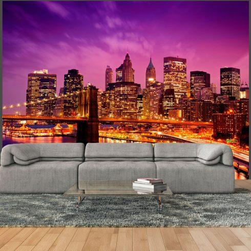 Fotótapéta - Manhattan és Brooklyn-híd éjjel  -  ajandekpont.hu