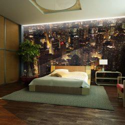 Fotótapéta - Város éjszaka - Chicago, Amerikai Egyesült Államok