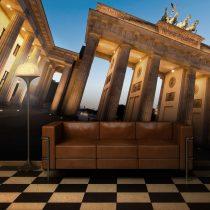 Fotótapéta - A Brandenburgi kapu alkonyatkor, Berlin