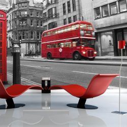 Fotótapéta - Piros busz és telefonfülke Londonban  -  ajandekpont.hu