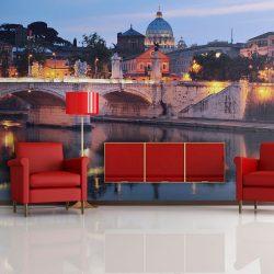 Fotótapéta - Éjszakai kilátás: Róma, Olaszország