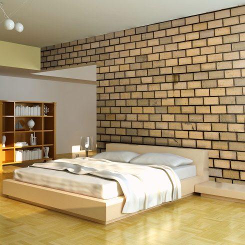 Fotótapéta - Brick wall in beige color  -  ajandekpont.hu