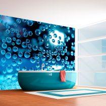 Fotótapéta - Kék víz buborékok