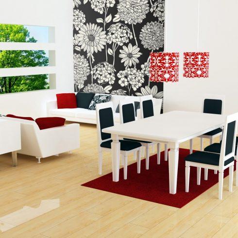 Fotótapéta - Black and white floral pattern  -  ajandekpont.hu