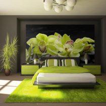 Fotótapéta - Still life with pebble and orchid