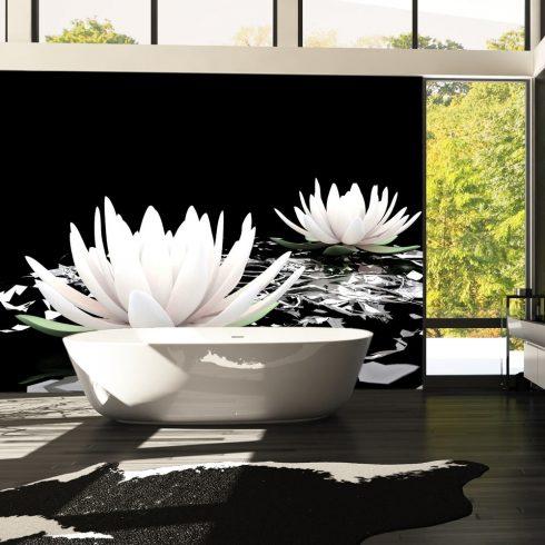 Fotótapéta - Water lilies on the abstract surface  -  ajandekpont.hu