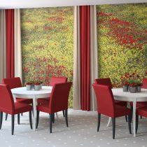 Fotótapéta - Meadow - piros és sárga virágok