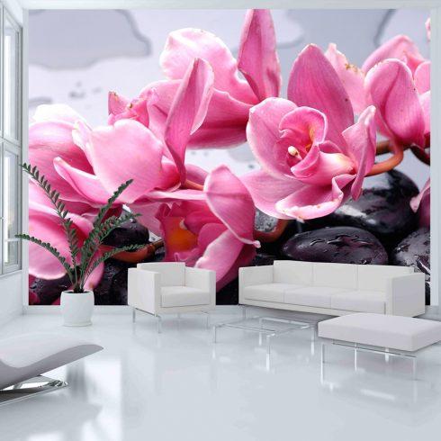Fotótapéta - Orchidea virág zen kövek  -  ajandekpont.hu