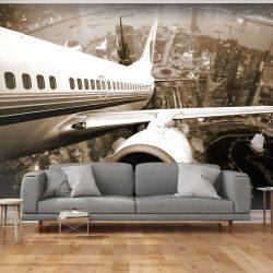 Fotótapéta - Airplane felszálló várostól