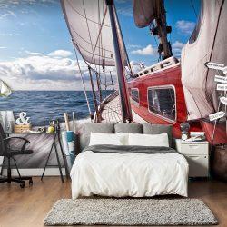 Fotótapéta - Egy hajó távol a parttól