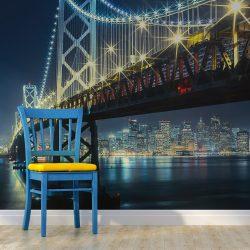 Fotótapéta - Bay híd éjjel l