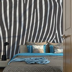 Fotótapéta - Zebra pattern (black and white)