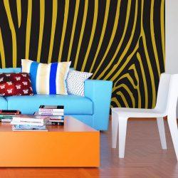 Fotótapéta - Zebra pattern (yellow)