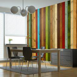 Fotótapéta - Wooden rainbow l