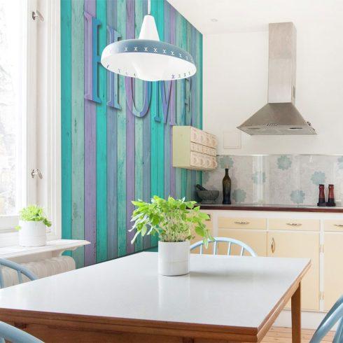 Fotótapéta - house (turquoise)  -  ajandekpont.hu