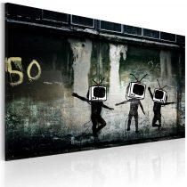 Vászonkép - TV heads dance (Banksy)