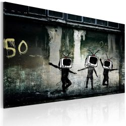 Vászonkép - TV heads dance (Banksy)
