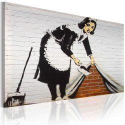 Vászonkép - Takarítónő (Banksy)