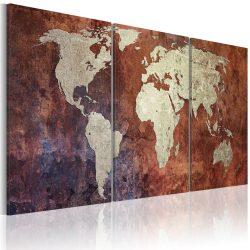 Vászonkép - Steel kontinensek