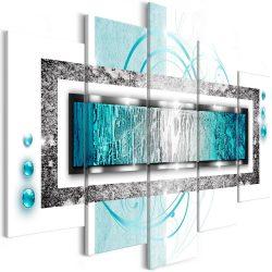Vászonkép  -  Turquoise blizzard (5 Parts) Wide - ajandekpont.hu