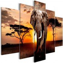 Vászonkép - Wandering Elephant (5 Parts) Wide - ajandekpont.hu