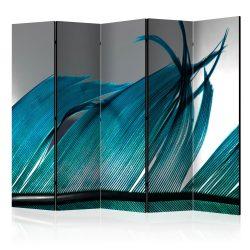 Paraván - Turquoise Feather II [Room Dividers] 5 részes 225x172 cm