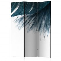 Paraván - Dark Blue Feather [Room Dividers] 3 részes  135x172 cm