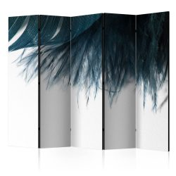 Paraván - Dark Blue Feather II [Room Dividers] 5 részes 225x172 cm