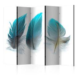 Paraván - Blue Feathers II [Room Dividers] 5 részes 225x172 cm
