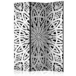 Paraván - White Mandala [Room Dividers] 3 részes  135x172 cm  -  ajandekpont.hu