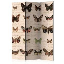 Paraván - Retro Style: Butterflies [Room Dividers] 3 részes  135x172 cm