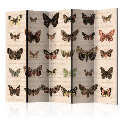 Paraván - Retro Style: Butterflies II [Room Dividers] 5 részes 225x172 cm