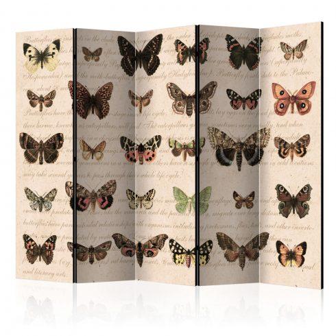 Paraván - Retro Style: Butterflies II [Room Dividers] 5 részes 225x172 cm  -  ajandekpont.hu