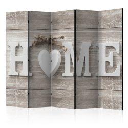 Paraván - Room divider - Home and heart 5 részes 225x172 cm
