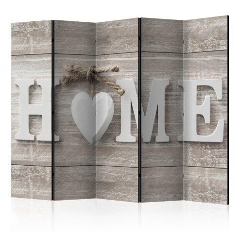 Paraván - Room divider - Home and heart 5 részes 225x172 cm  -  ajandekpont.hu