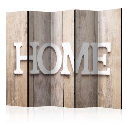 Paraván - Room divider – Home on wooden boards 5 részes 225x172 cm
