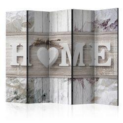 Paraván - Room divider – Inscription Home 5 részes 225x172 cm