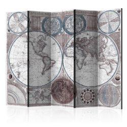 Paraván - Terraqueous Globe [Room Dividers] 5 részes 225x172 cm