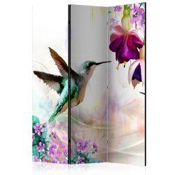 Paraván - Hummingbirds and Flowers [Room Dividers]3 részes  135x172 cm